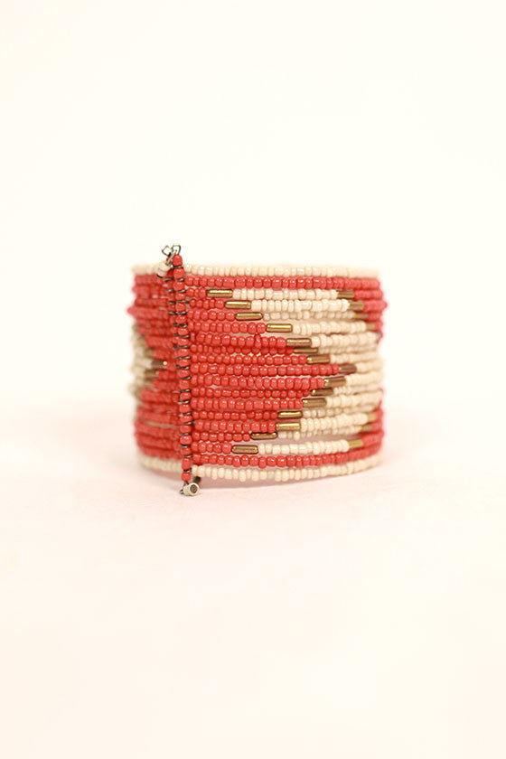 Beaded Beauty Bracelet in Orange