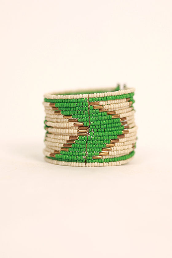 Beaded Beauty Bracelet in Green
