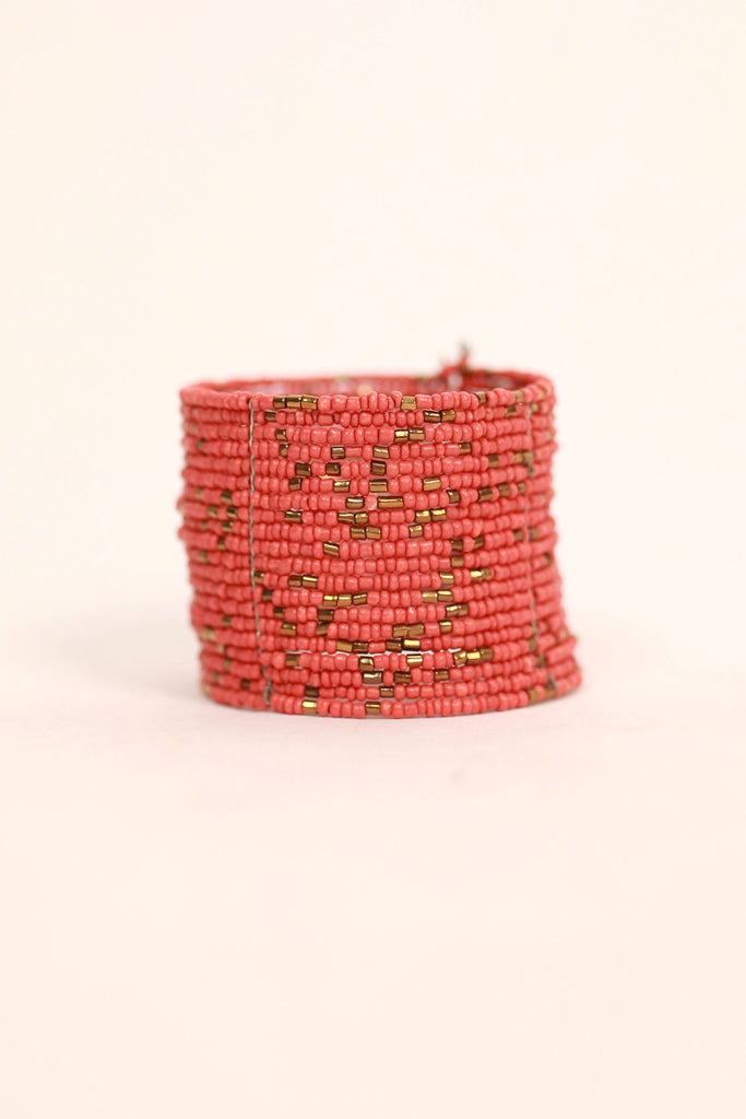 Making Memories Bracelet in Coral