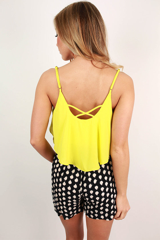 Exploring Rome Romper in Lime
