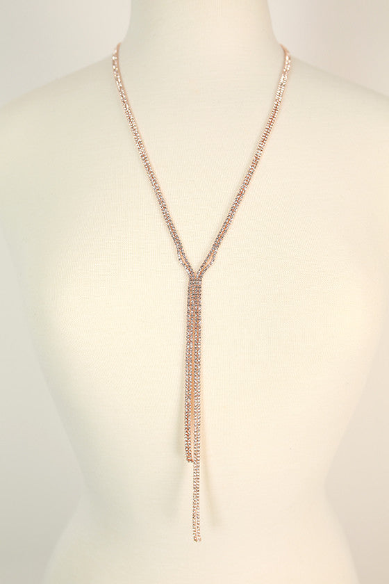 Dripping In Fabulous Necklace in Rose Gold