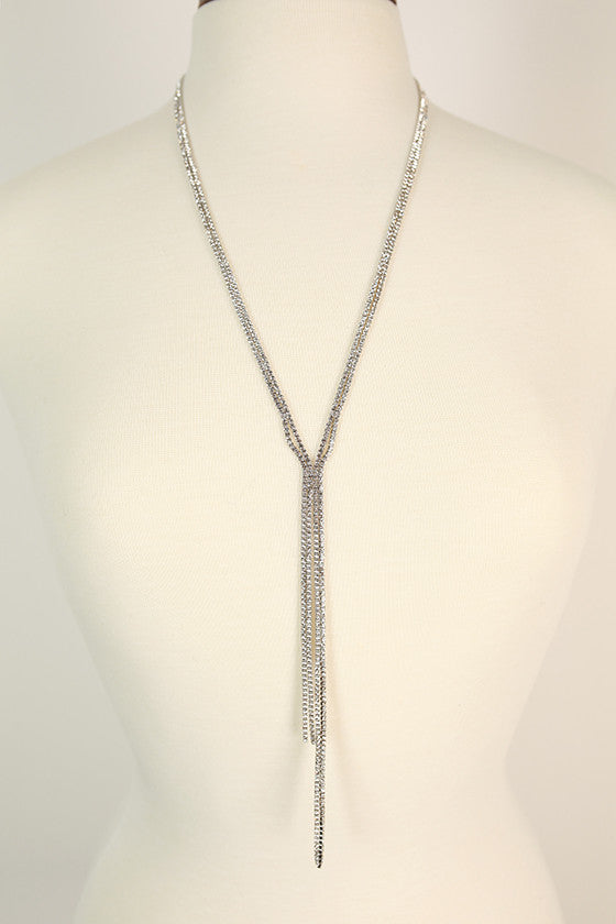 Dripping In Fabulous Necklace in Silver