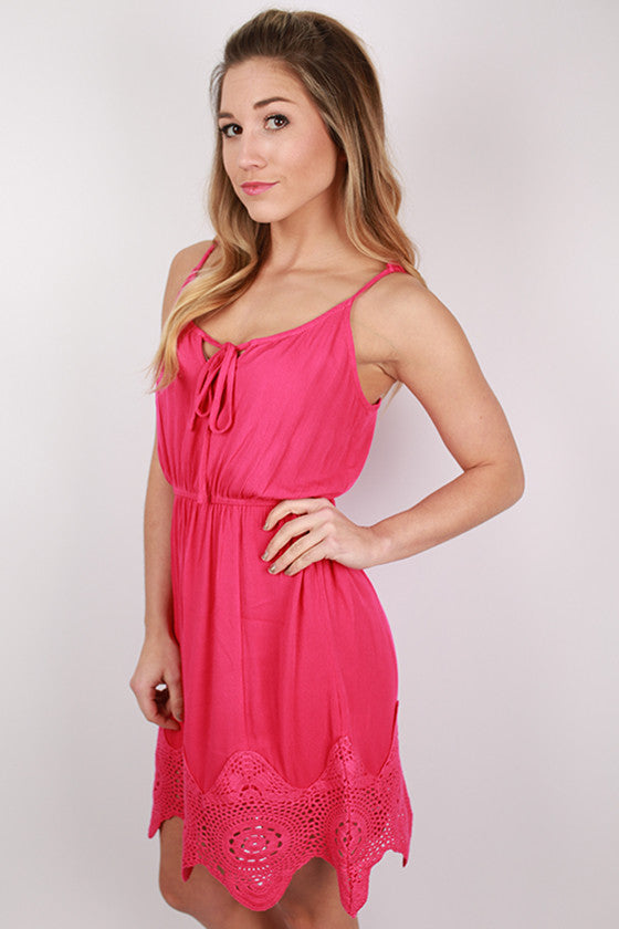 Pop Of Color Dress in Fuchsia