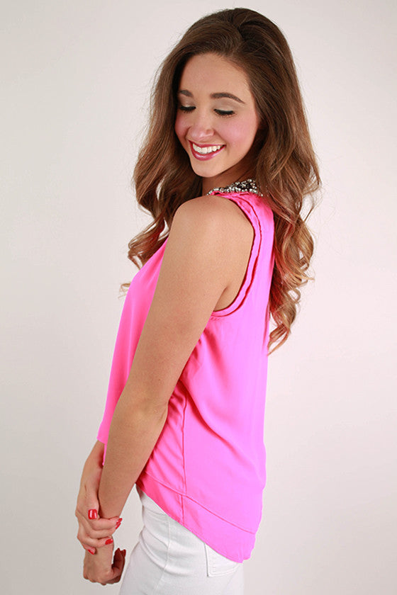Holy Chic Top in Hot Pink