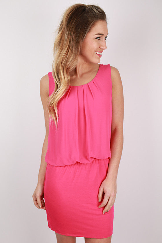 Happiest Of Happy Hours Dress in Fuchsia