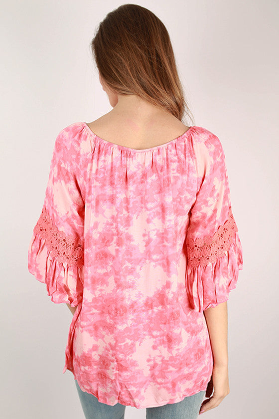 Afternoon Affair Top in Peach