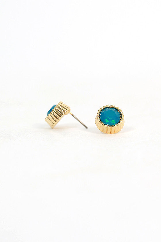 Blissful Day Earrings in Aqua