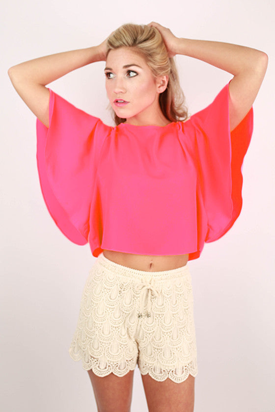 5aa410cd198dc When I Met You In The Summer Top in Neon Pink • Impressions Online ...