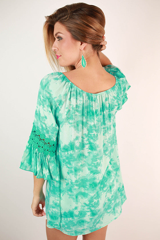 Afternoon Affair Top in Turquoise