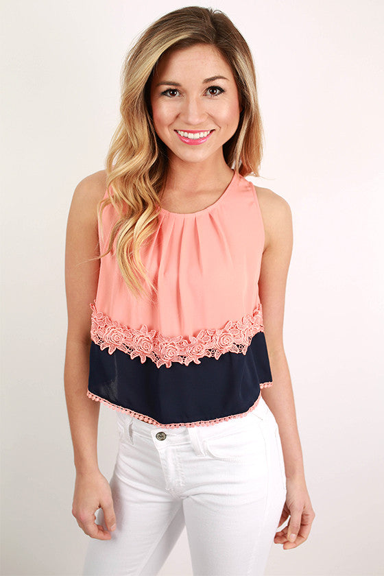 You're The Sweetest Top in Peach