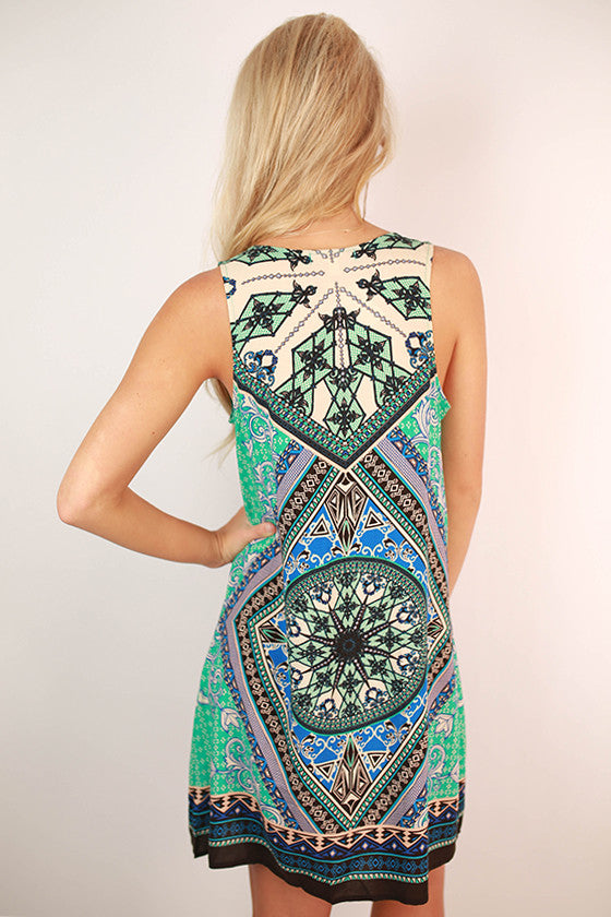 Polished To Perfection Dress in Jade