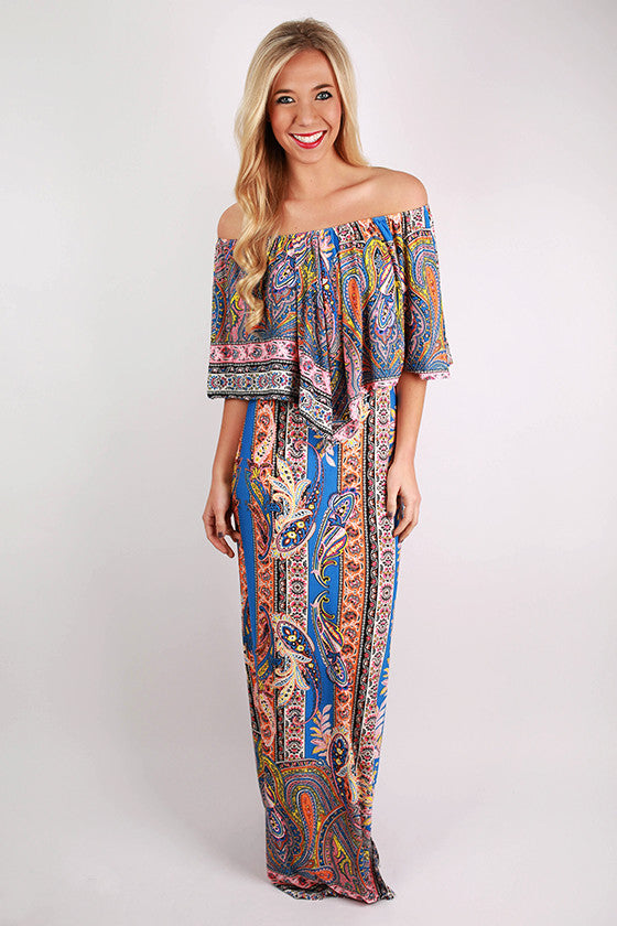 Confetti & Caviar 3 Way Maxi in Blue