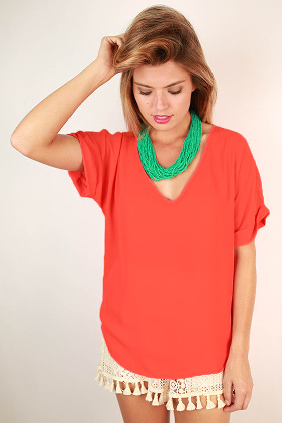 Crazy Thing Called Love Top Coral