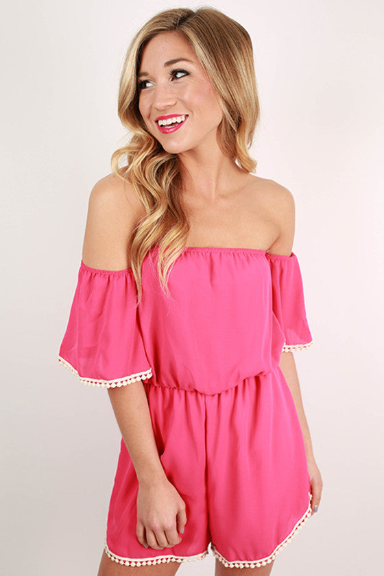 Dare To Dream Romper in Pink