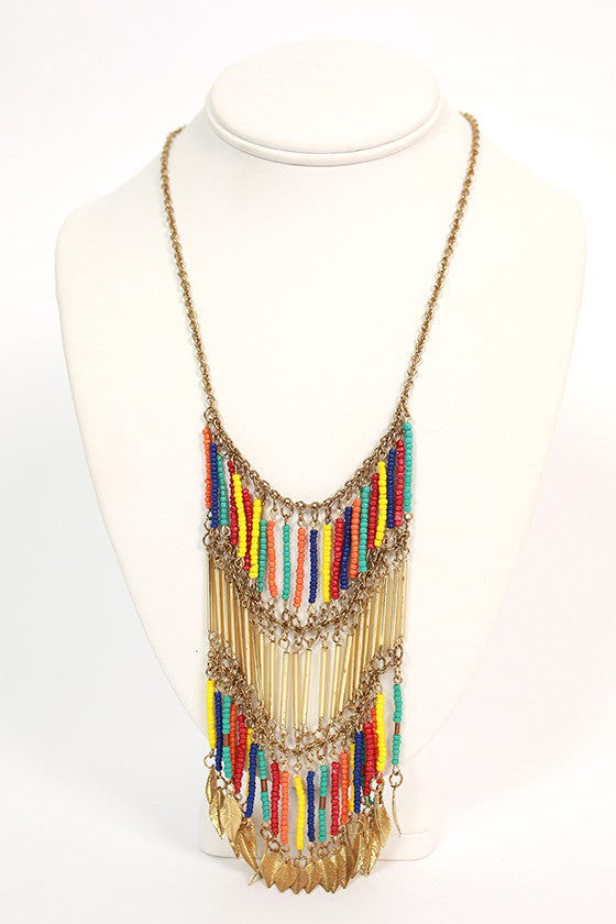 Sunrise to Sunset Necklace Multicolor