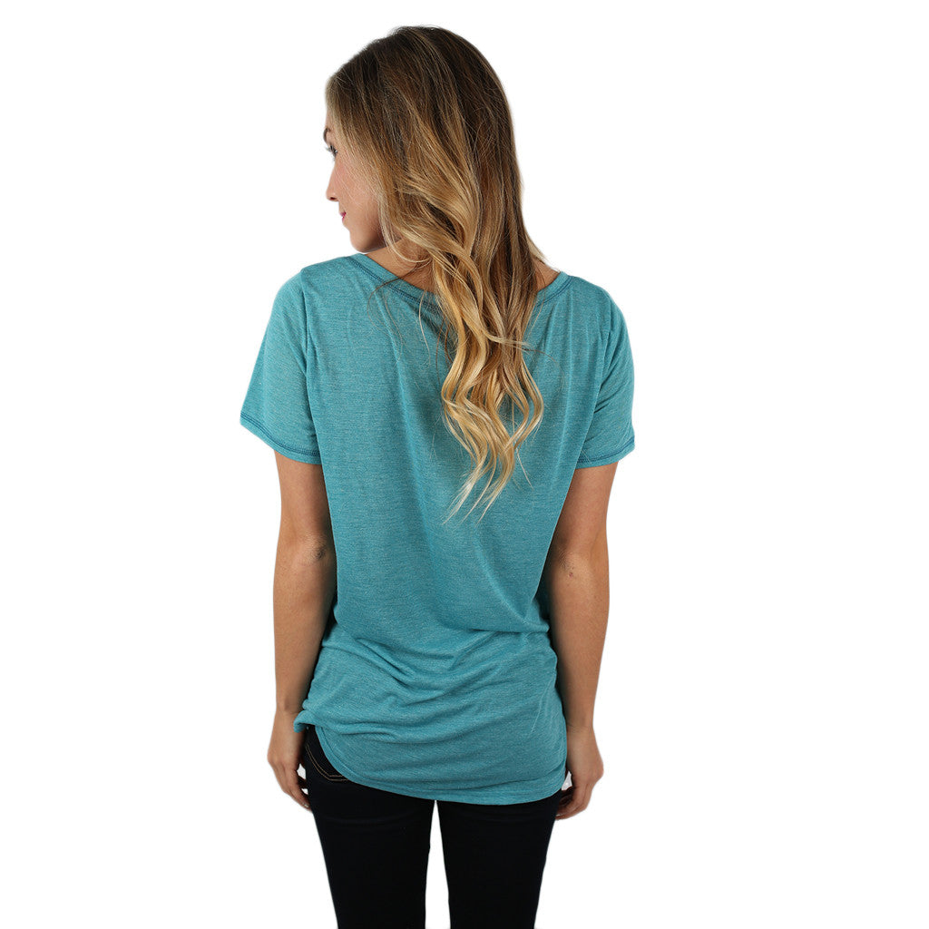 Let's Hang Tee in Turquoise