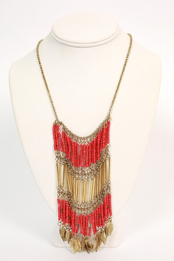 Sunrise to Sunset Necklace Coral