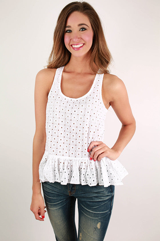 Little Miss Perfect Tank in White