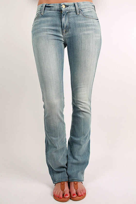 The Slim Illusion Skinny Bootcut in Faded Blue