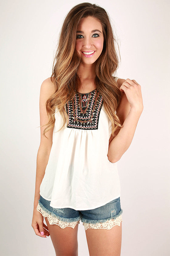 Tea Time Tank in Ivory