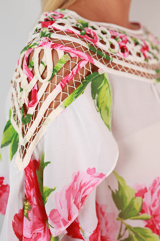 Floral Inspiration Top in Pink