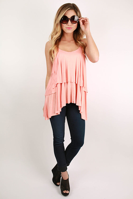 Layering Love Tank in Peach
