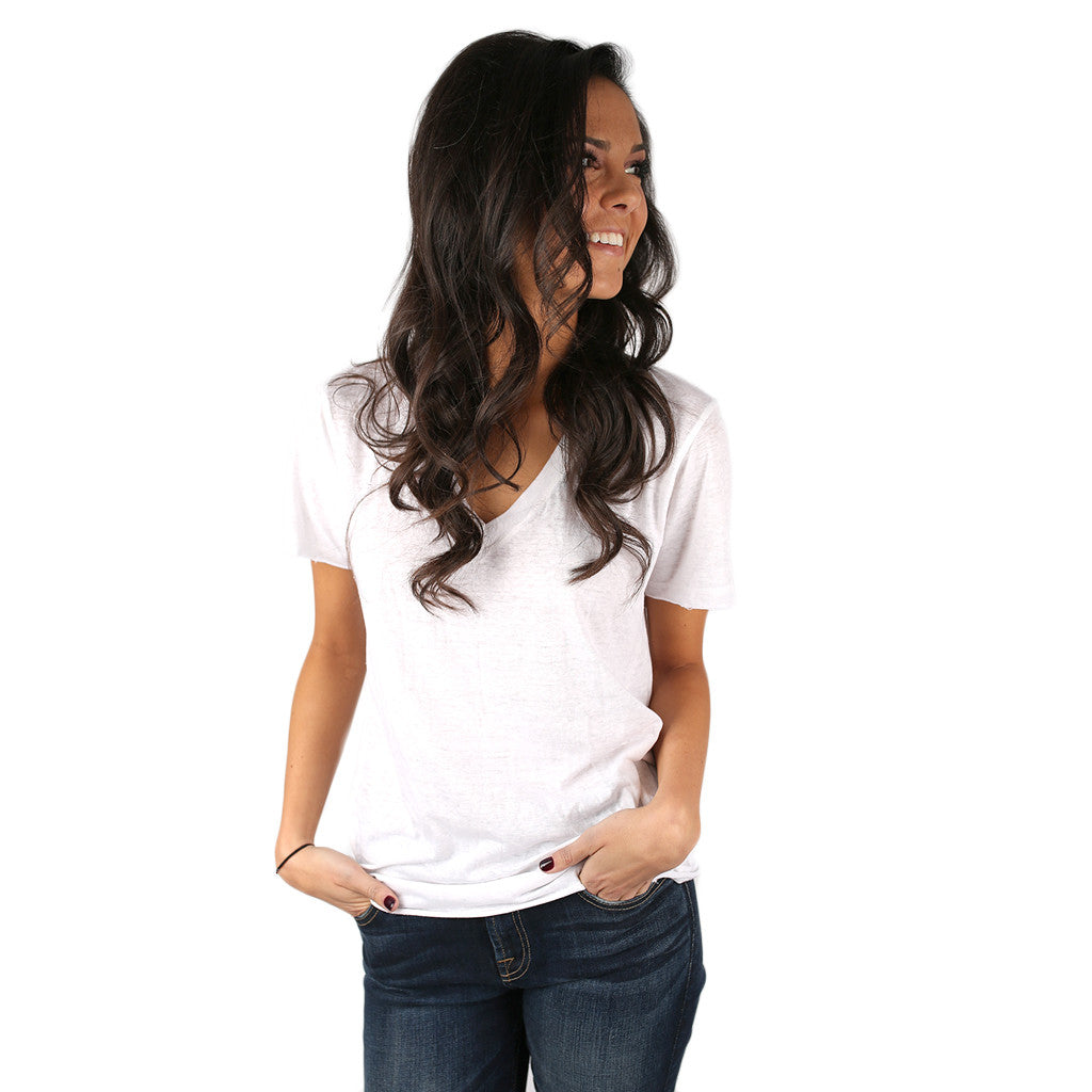 Lucky Girl Tee in Ivory
