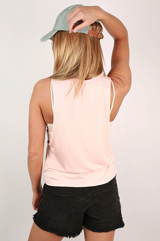 My Cardio Tank in Baby Pink