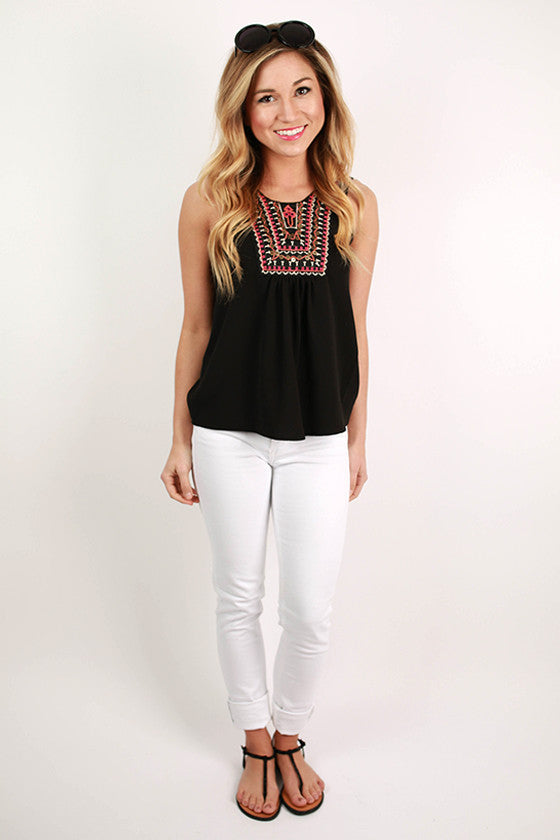 Tea Time Tank in Black