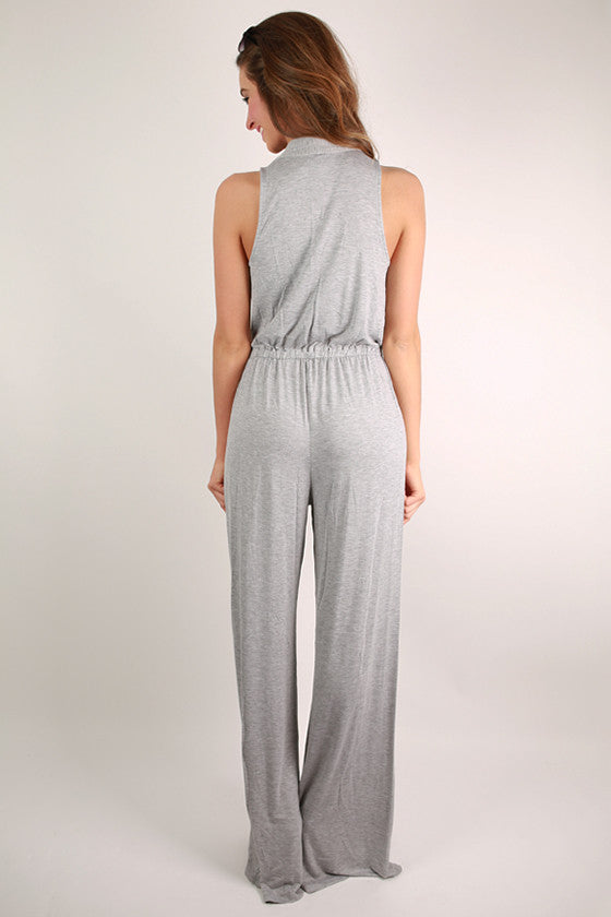 Keeping It Breezy Jumpsuit in Heather Grey & Tall