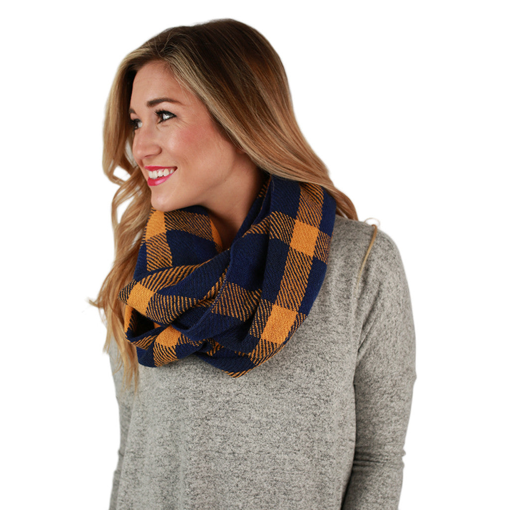 Cozy For Days Infinity Scarf in Gold