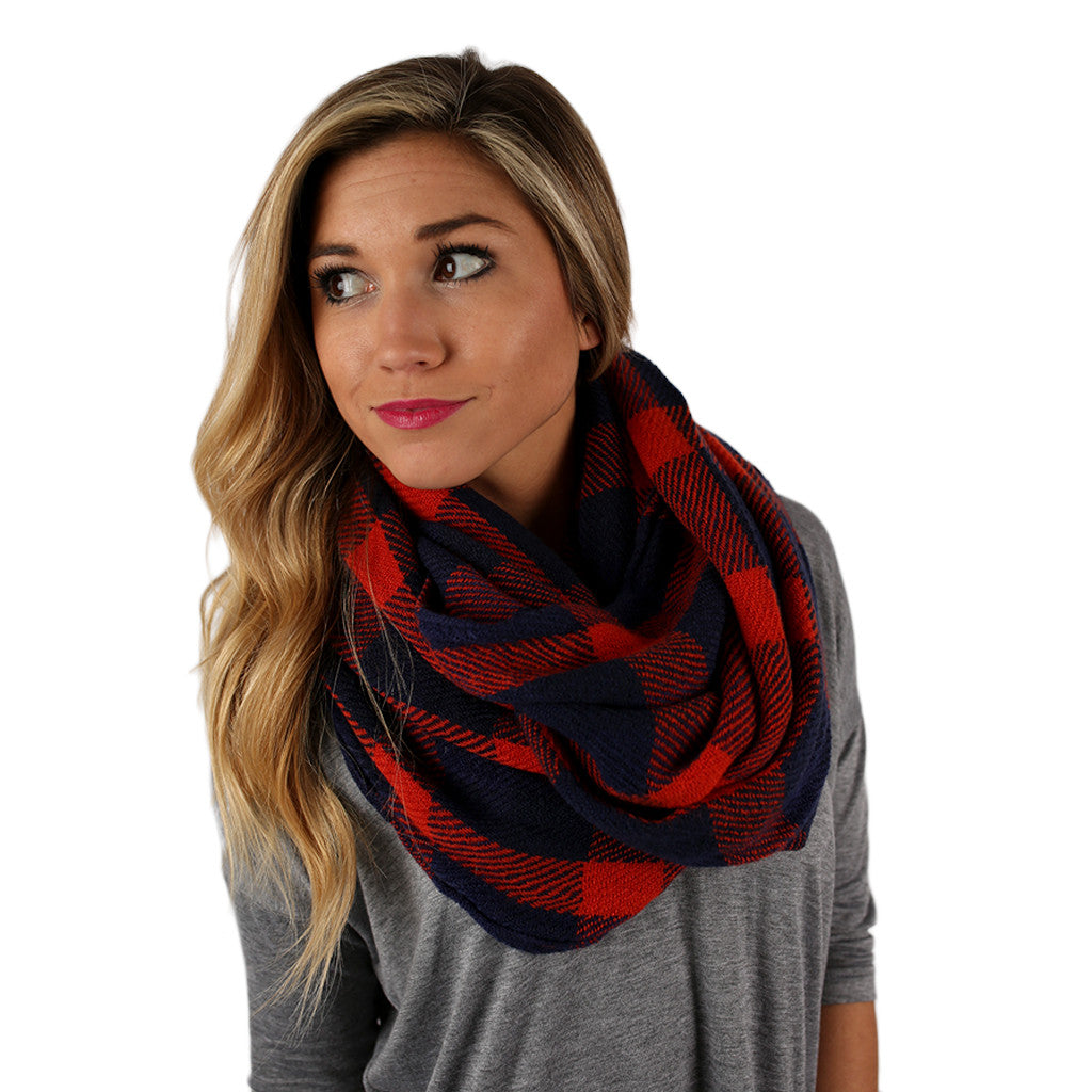 Cozy For Days Infinity Scarf in Orange