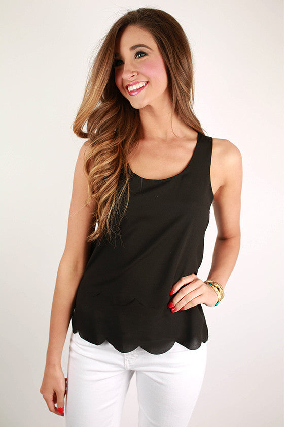 Personality Perfection Tank in Black