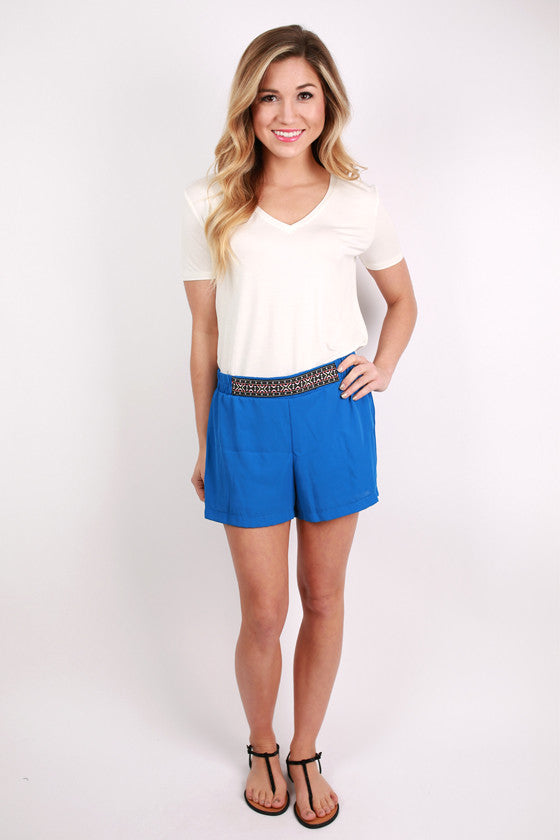 Cheer On Shorts in Blue