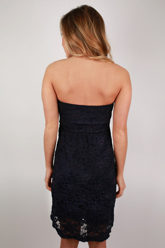 Moonlight Kisses Dress Navy