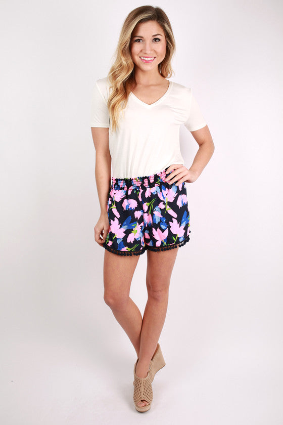 Double Take Shorts Floral