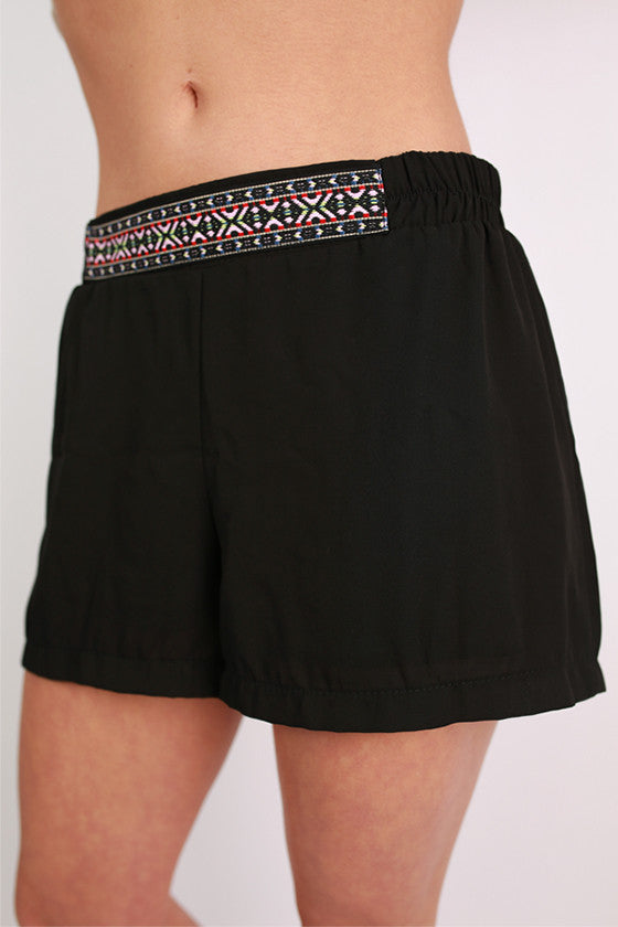 Cheer on Shorts in Black