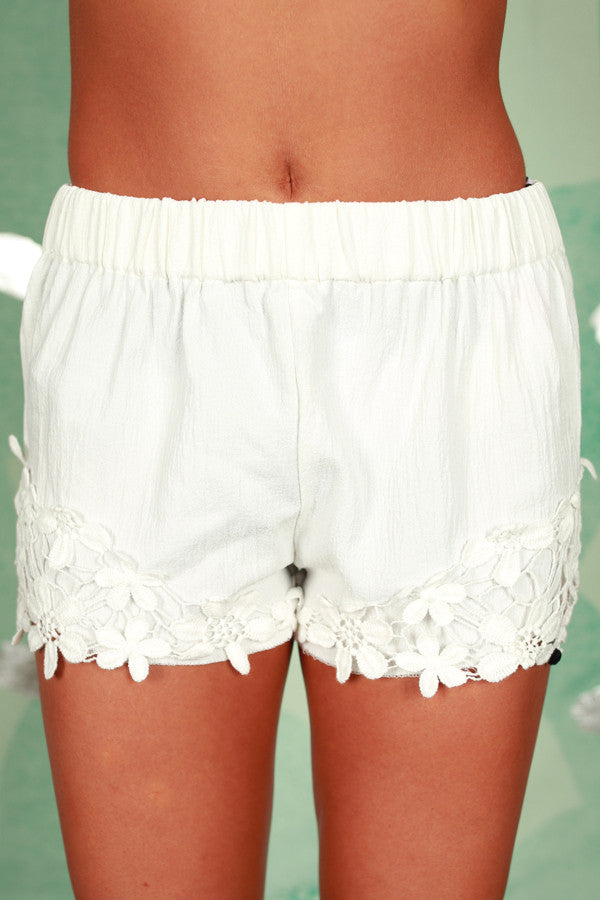 Dream Come True Shorts in White