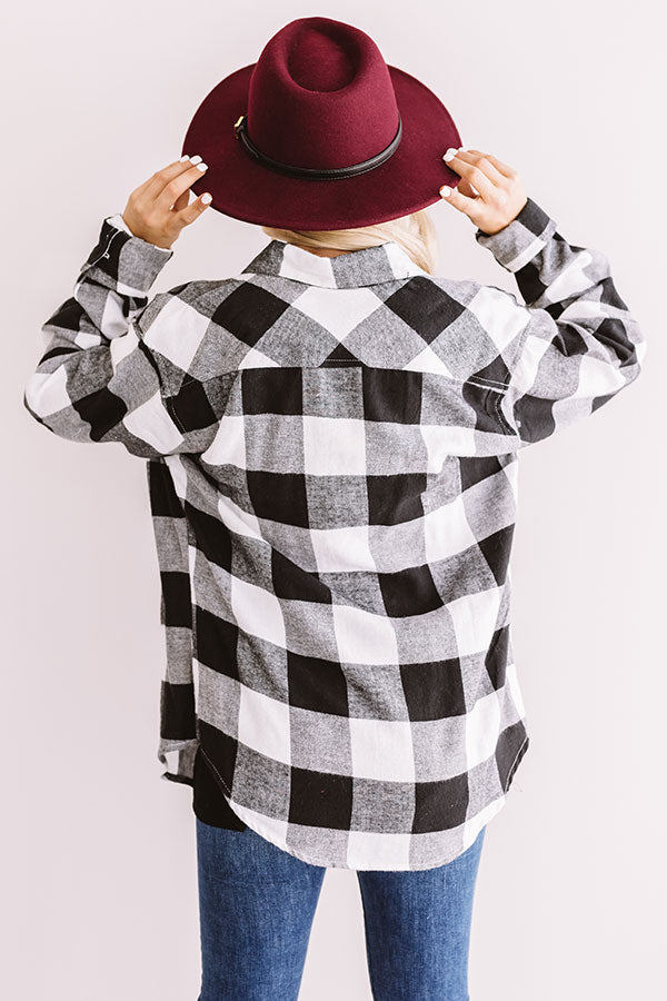 Cozy For Days Unisex Flannel in White
