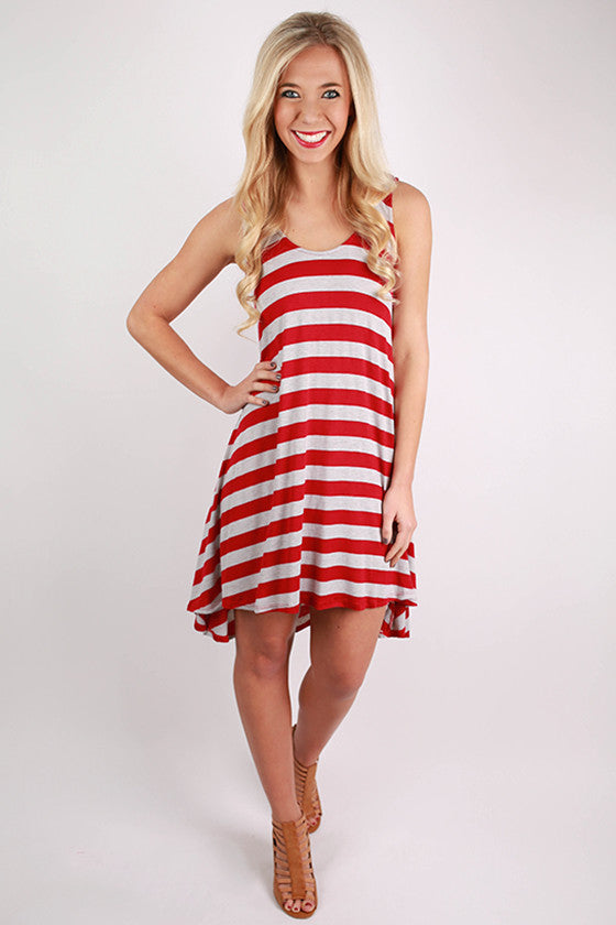 Think Happy, Be Happy Dress in Red