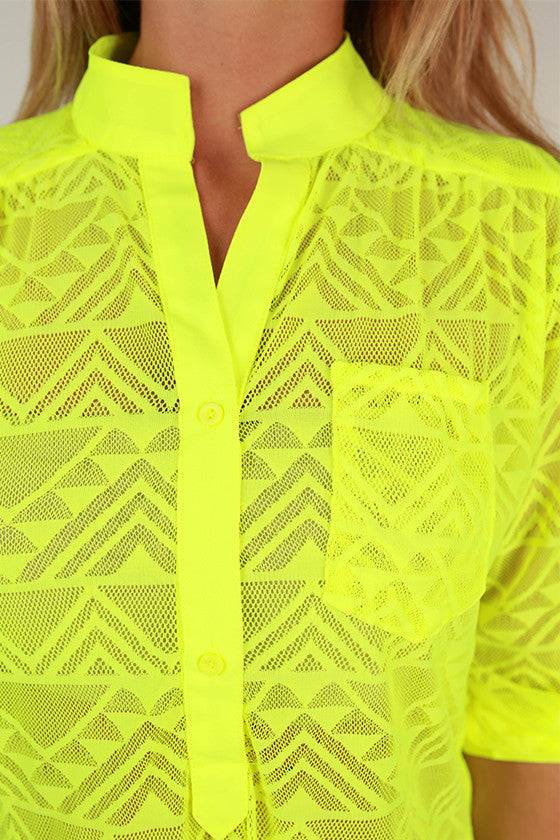Living The Life Top in Neon Yellow