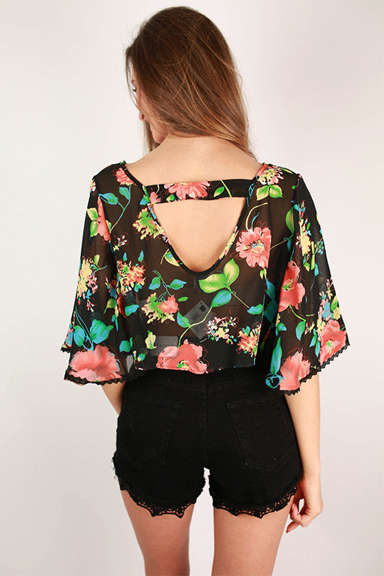 Petal Party Crop Top