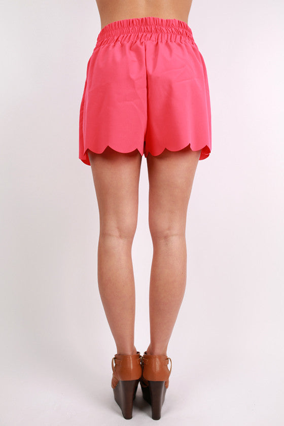 Here to Win Shorts Coral
