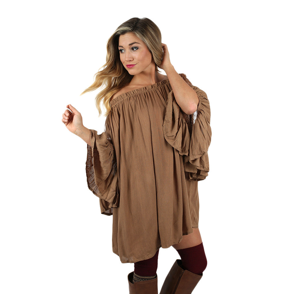 Life to Love Tunic in Taupe