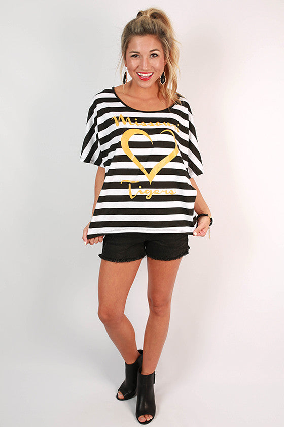 Team Love Dolman Tee University of Missouri