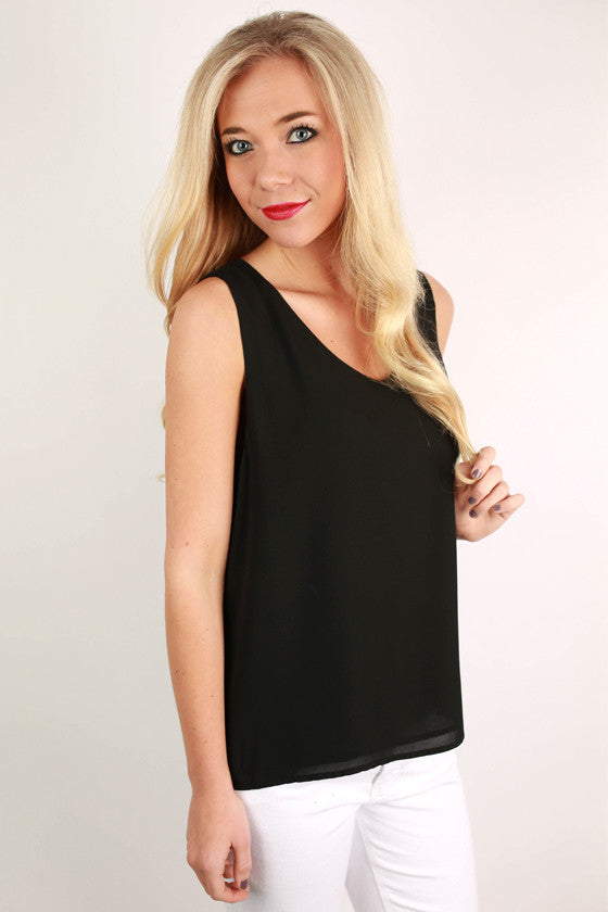 Hey, Good Looking Tank in Black