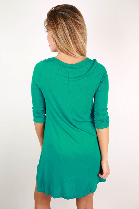 Yours Truly Tunic in Teal