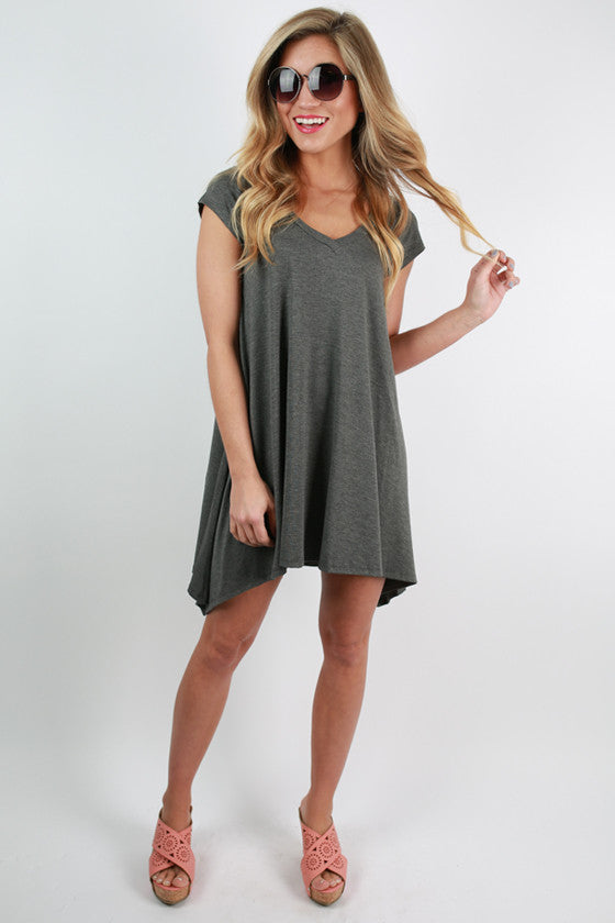 I'm Flawless Tunic in Charcoal
