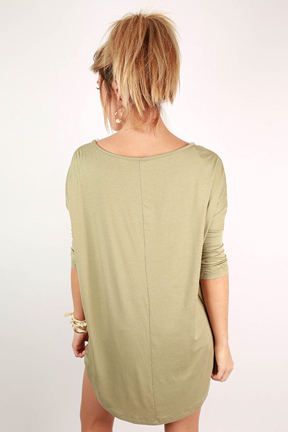 Mimosa Sipping Tee Olive