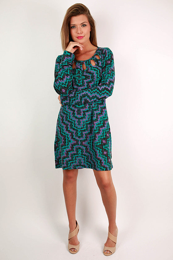 Weekend in the City Dress Teal